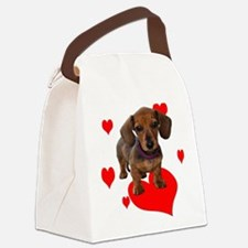 Love Dachshunds Canvas Lunch Bag