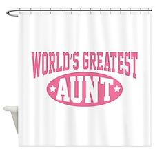 World's Greatest Aunt Shower Curtain