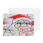 Santa Christmas Art Greeting Cards (Package