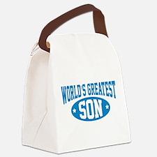 World's Greatest Son Canvas Lunch Bag
