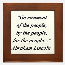 Lincoln - Of the People Framed Tile