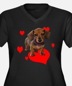 Love Dachshunds Plus Size T-Shirt