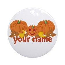 Personalized Halloween Ornament (Round)