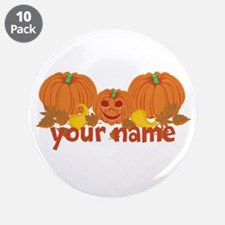 """Personalized Halloween 3.5"""" Button (10 pack)"""