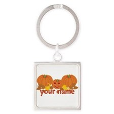 Personalized Halloween Square Keychain