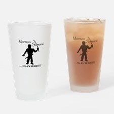 Cute Funny mormon Drinking Glass