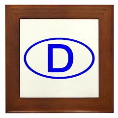 Germany - D Oval Framed Tile