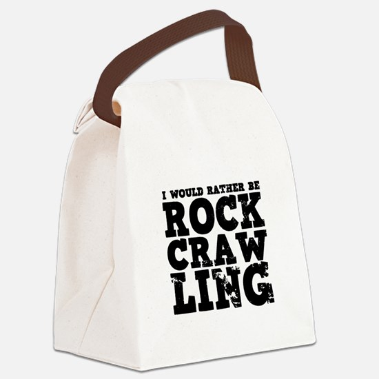 'Rock Crawling' Canvas Lunch Bag