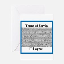 Terms of Service Greeting Card