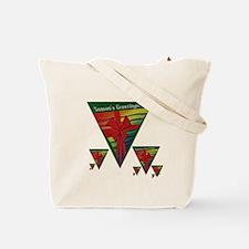 SEASONS GREETINGS RAINBOW TRI Tote Bag