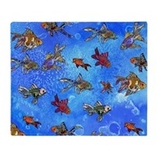 Wild Goldfish Throw Blanket