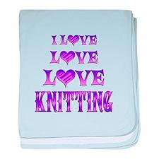 Love Love Knitting baby blanket