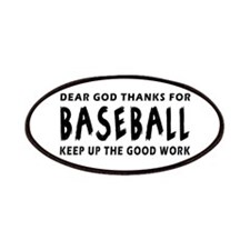 Dear God Thanks For Baseball Patches