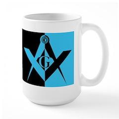 Masonic Black and Blue Rectangle Mug