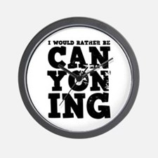 'Rather Be Canyoning' Wall Clock