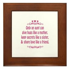 Only an aunt can give hugs like a mother Framed Ti