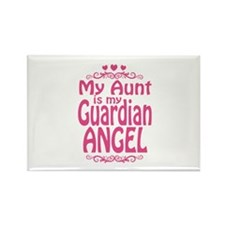 My Aunt is My Guardian Angel Rectangle Magnet