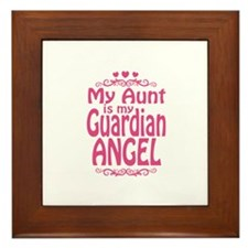 My Aunt is My Guardian Angel Framed Tile