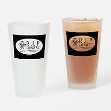 horz logo dk Drinking Glass