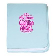 My Aunt is My Guardian Angel baby blanket