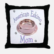 Eskimo Dog Mom Throw Pillow