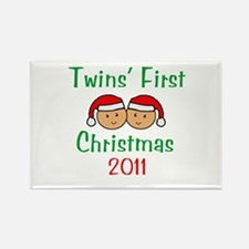 Twins First Santa Hats Rectangle Magnet