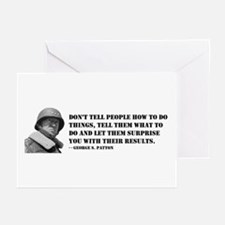 Patton Quote - How Greeting Cards (Pk of 10)