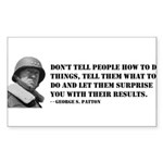 Patton Quote - How Rectangle Sticker
