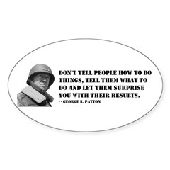 Patton Quote - How Oval Decal