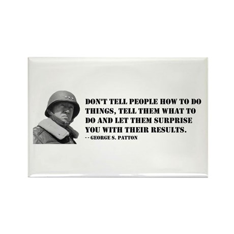 Patton Quote - How Rectangle Magnet (10 pack)