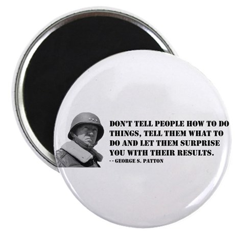 """Patton Quote - How 2.25"""" Magnet (10 pack)"""