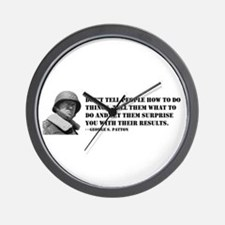 Patton Quote - How Wall Clock