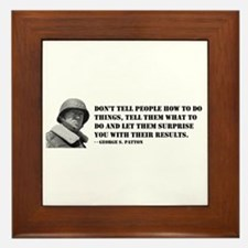 Patton Quote - How Framed Tile