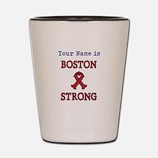 Boston Strong Ribbon Lt - Personalized! Shot Glass