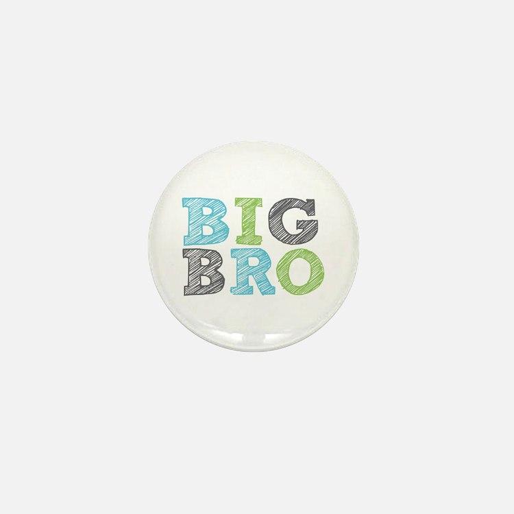 Sketch Style Big Bro Mini Button