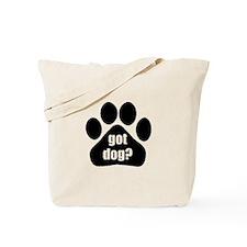 Got dog white Tote Bag