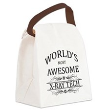World's Most Awesome X-Ray Tech Canvas Lunch Bag