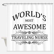 World's Most Awesome Traveling Nurse Shower Curtai