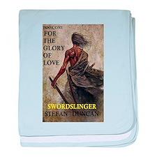 Swordslinger bookcover baby blanket