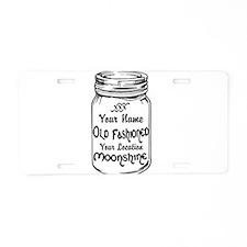 Custom Moonshine Aluminum License Plate