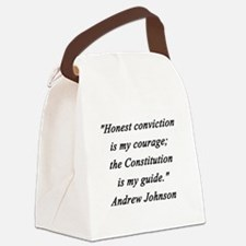 Johnson - Honest Conviction Canvas Lunch Bag
