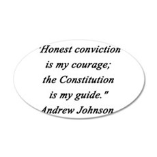 Johnson - Honest Conviction Wall Decal