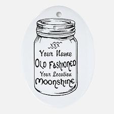 Custom Moonshine Ornament (Oval)