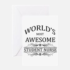 World's Most Awesome Student Nurse Greeting Card