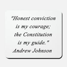 Johnson - Honest Conviction Mousepad