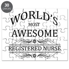 World's Most Awesome Registered Nurse Puzzle