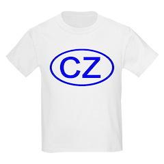 Czech Republic - CZ Oval Kids T-Shirt