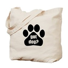Got dog black Tote Bag