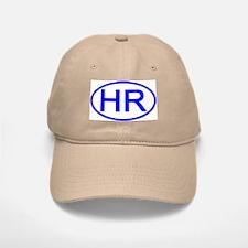 Croatia - HR Oval Baseball Baseball Cap
