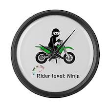 Green Ninja Large Wall Clock